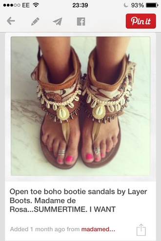 shoes fashion style boho beach boho style sandles shells lovely