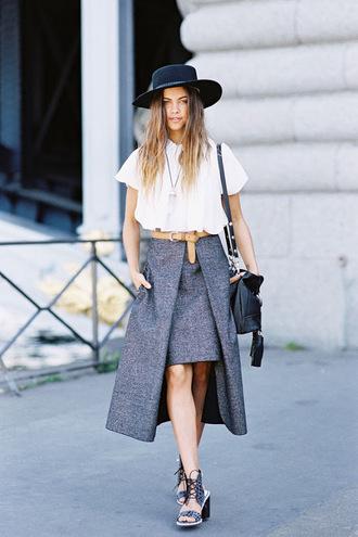 vanessa jackman blogger blouse skirt belt shoes