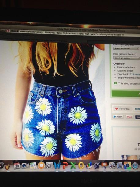 shorts flowers denim shorts