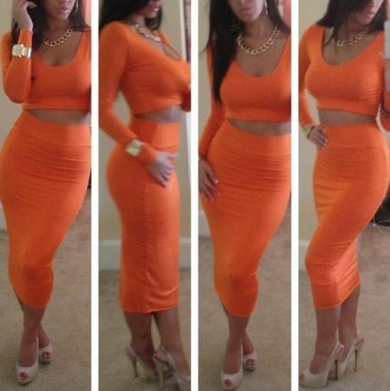Fashion two piece dress