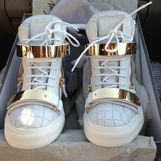shoes original shoes white shoes gold shoes white kicks high top sneakers sneakers gold metallic shoes leather white sneakers gold sneakers zip gold zippers tumblr tennis shoes high tops white and gold