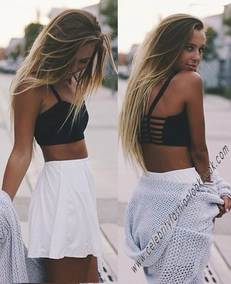 Multi-strap Crop Bustier - Bustier Tops - Tops - Clothing