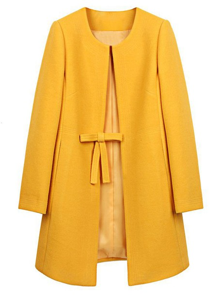 Coat: yellow, wool, fall outfits, winter outfits, jacket ...