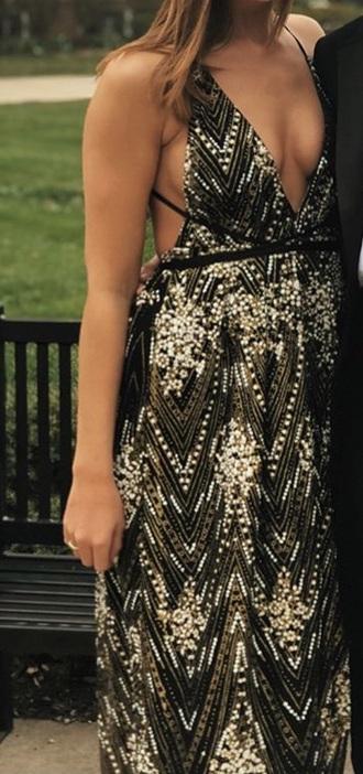 dress black dress with sequins silver sequins black dress gold sequins
