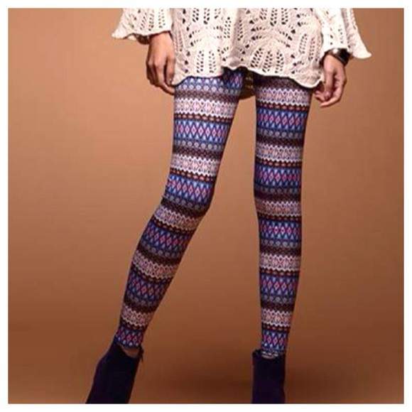 pants aztec leggings printed leggings geometric patterned pants holidays