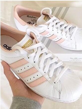 adidas rosa weiß superstar