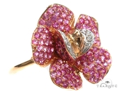jewels,flowers,pink,pink flower,ring,diamonds