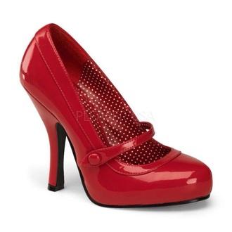 shoes red heels vintage red heels mary jane high heel pumps