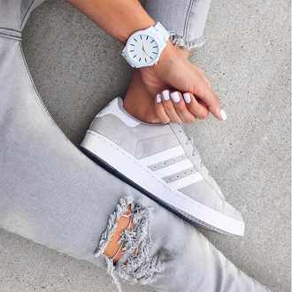 shoes adidas grey white white and grey sneakers adidas shoes jewels low top sneakers