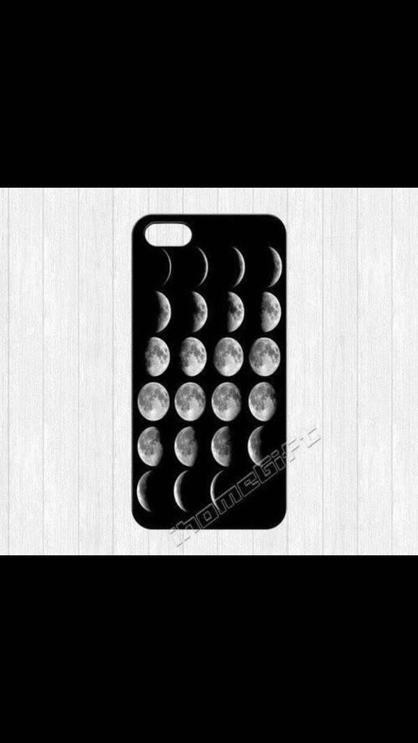 case for iphone 4/4s/5 moon pretty black sunglasses