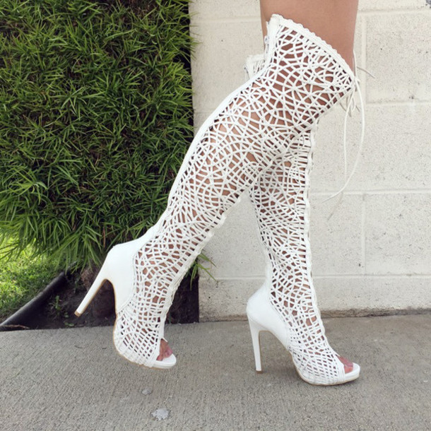 shoes cicihot boots thigh high boots lace up boots