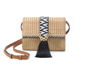 bag,raffia bag,crossbody bag,aztec