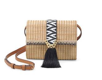 bag raffia bag crossbody bag aztec