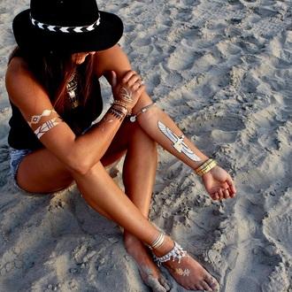 jewels metallic tattoo