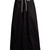 Gathered-waist cotton maxi skirt