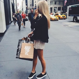 shoes black shoes sneakers slip on shoes blondie nike abercrombie & fitch