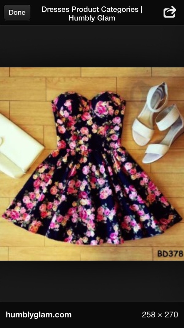 dress flowers floral bustier bustier classy floral