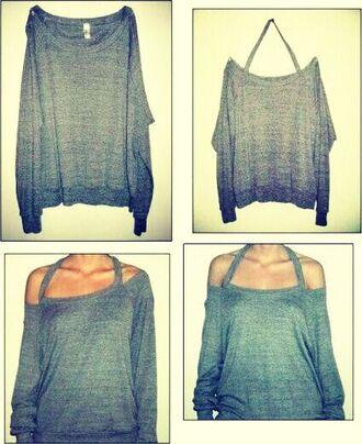 sweater t-shirt grey sweater gray grey sweatshirt sweater/sweatshirt long sleeves long sleeve