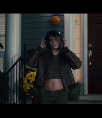 jacket pants paper towns cara delevingne crop tops hat top goggles sunglasses