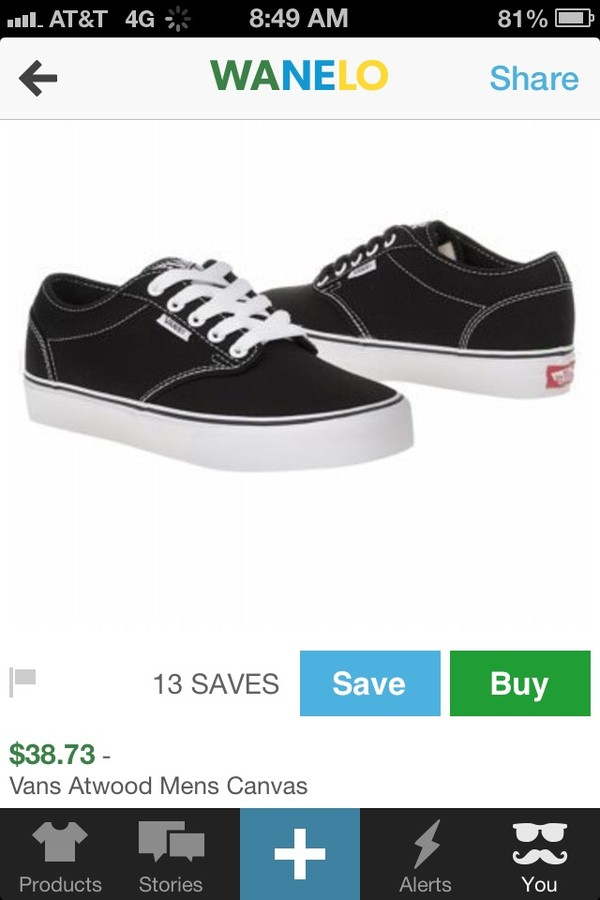 shoes vans atwood black white sneakers