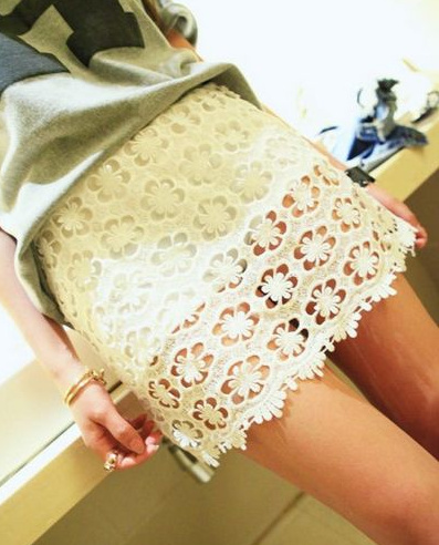 Eyelet floral lace skirt · fashion struck · online store powered by storenvy