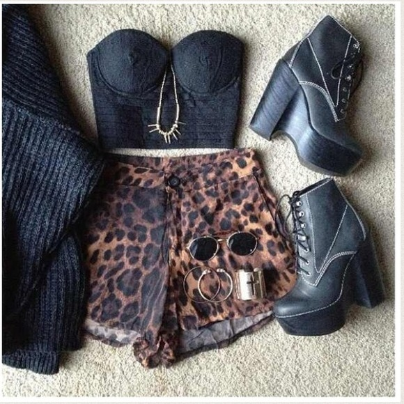 Leopard shorts S from Rubi's closet on Poshmark