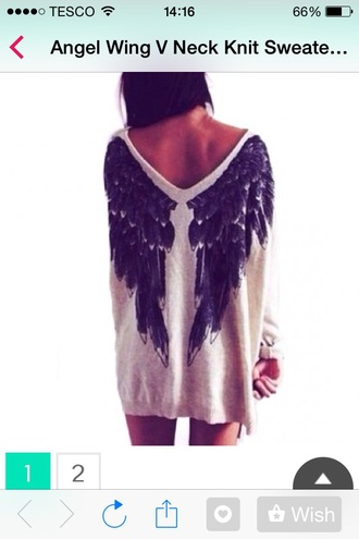 top cheap sweater angel wings jumper angel wings