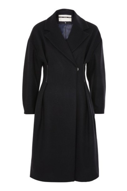 Topshop coat navy blue