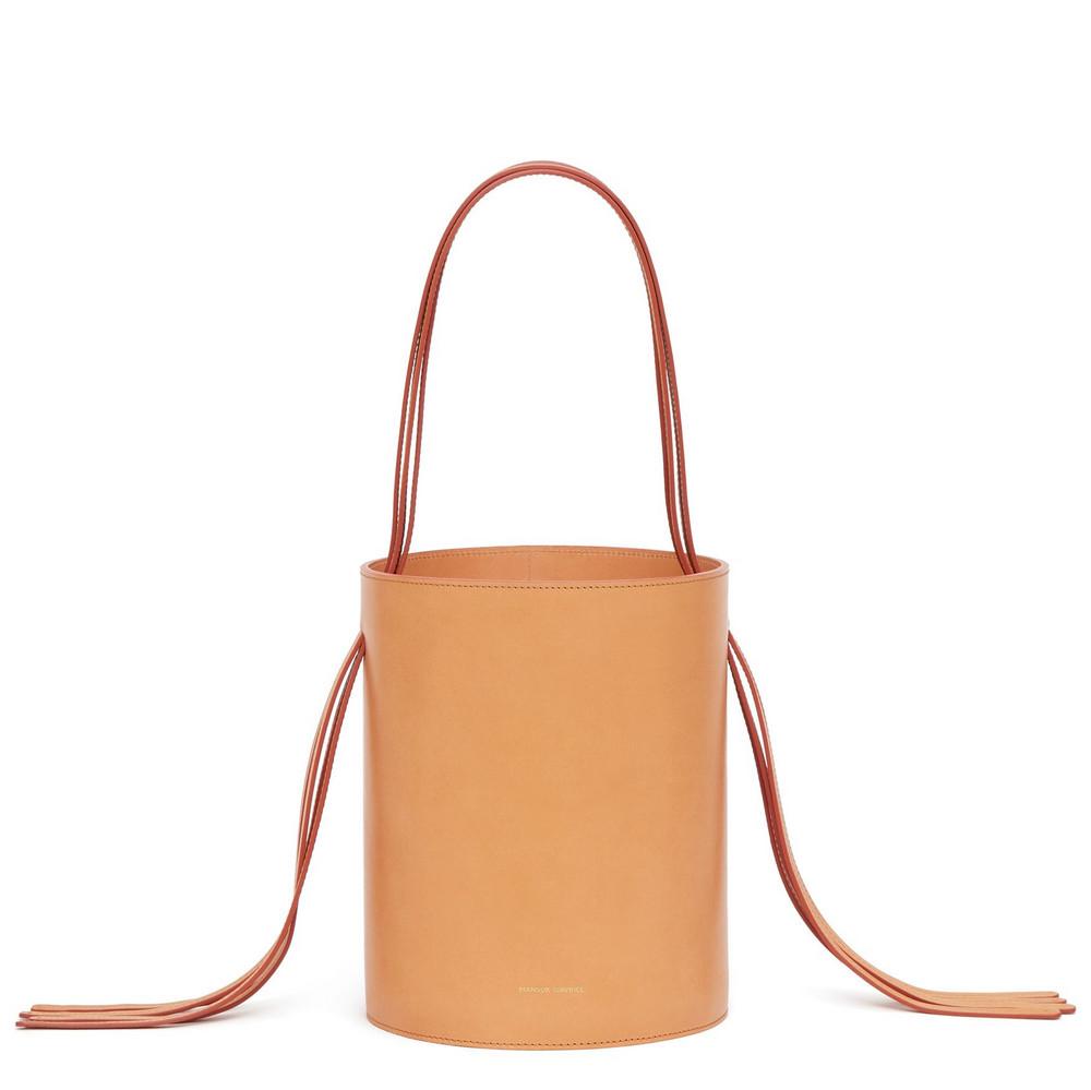 Mansur Gavriel Cammello Fringe Bucket Bag - Rosa