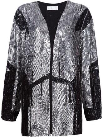 jacket embroidered jacket embroidered geometric black