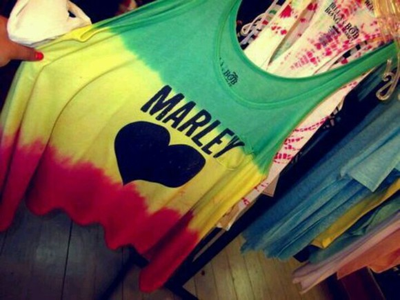 rasta bob marley rasta colors t-shirt singlet