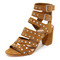 Loeffler randall galia studded city sandals - sienna/silver