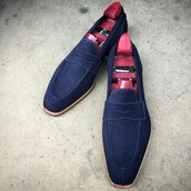 shoes,blue,mens shoes,loafers,mens loafers