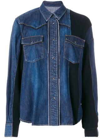 jacket denim jacket denim women cotton blue wool