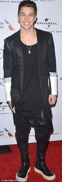 jacket black austin mahone