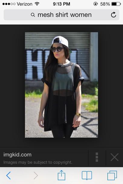 blouse black all black everything mesh all black mesh black mesh rolled sleeves