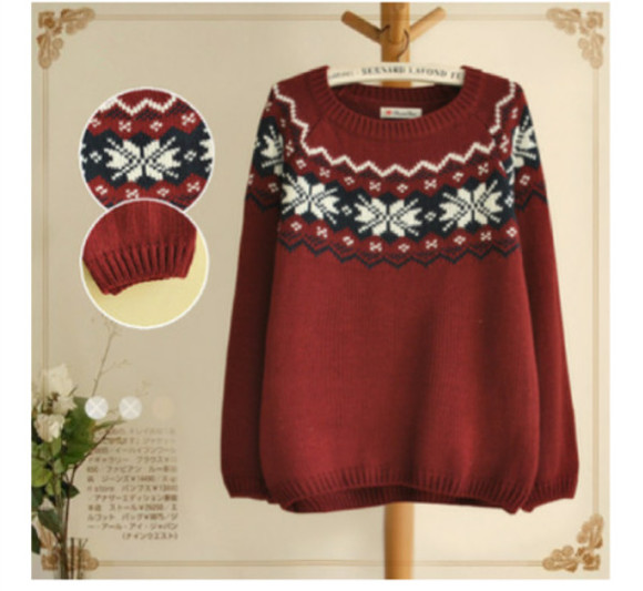 red sweater christmas