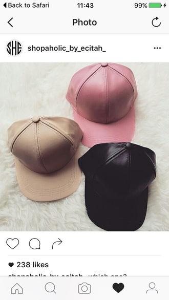 hat leather cap