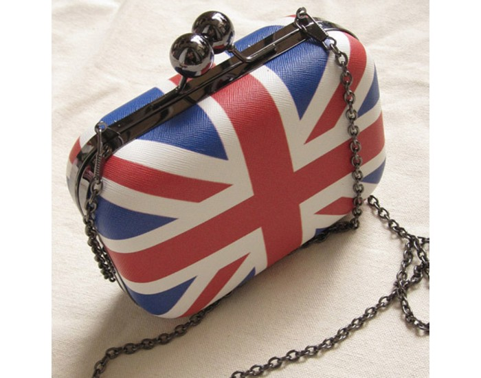 Mini Union Jack Flag Handbag / Purse - Detachable Strap