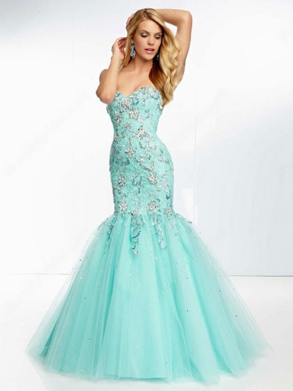 dress mermaid prom dress sweetheart dress beaded