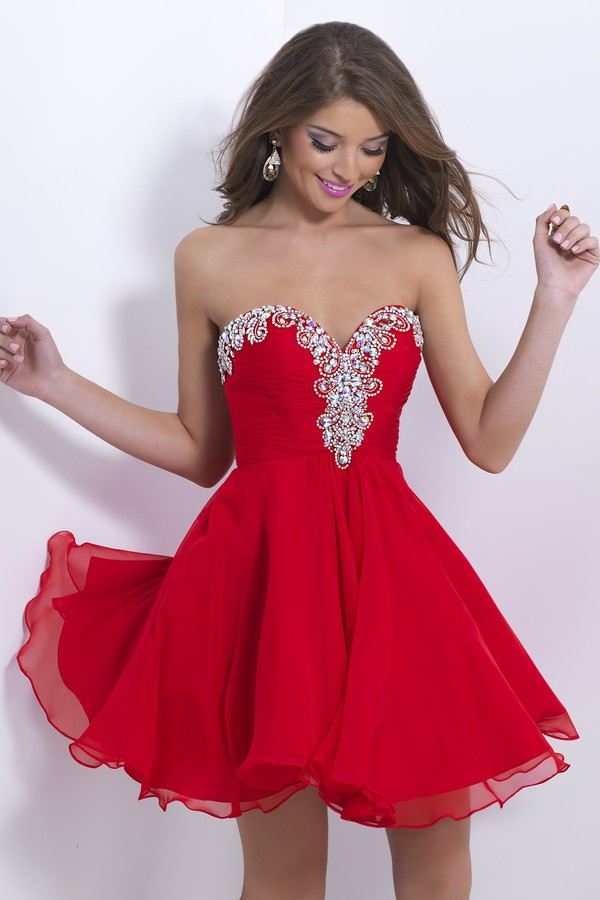 red dress mini dress dress strapless dress off the shoulder dress beaded dress chiffon dress party dress 2014 dress fall dress