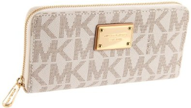 Amazon.com: MICHAEL Michael Kors Mk Logo Zip Around Continental,Vanilla,one size: Michael Kors: Shoes