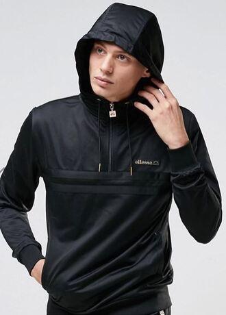 sweater black tricot exclusive mens sweater menswear ellesse