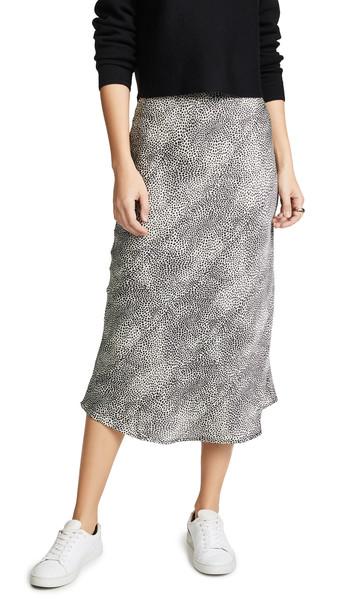 re:named re: named Leopard Midi Skirt in black / white