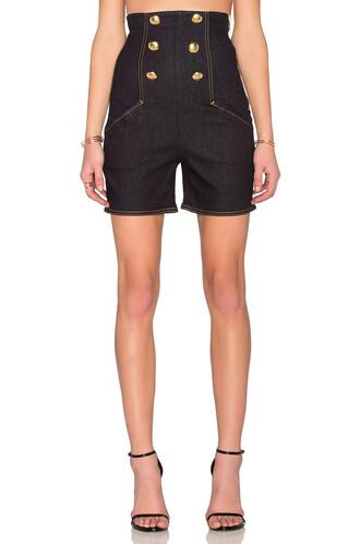 shorts high waisted shorts high waisted high denim dark