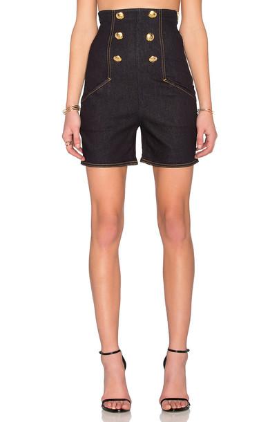 LOVE MOSCHINO shorts High waisted shorts high waisted high denim dark