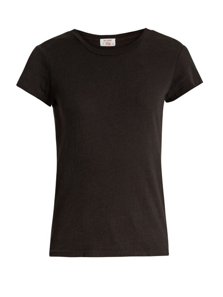 RE/DONE ORIGINALS t-shirt shirt cotton t-shirt t-shirt cotton black top