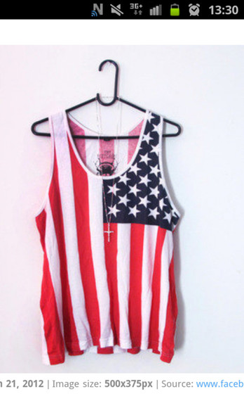 clothes crop tops usa flag t-shirt dress