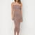 Keep It Simple Tube Midi Dress BLUSH MOCHA WHITE - GoJane.com