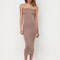 Keep it simple tube midi dress blush mocha white - gojane.com